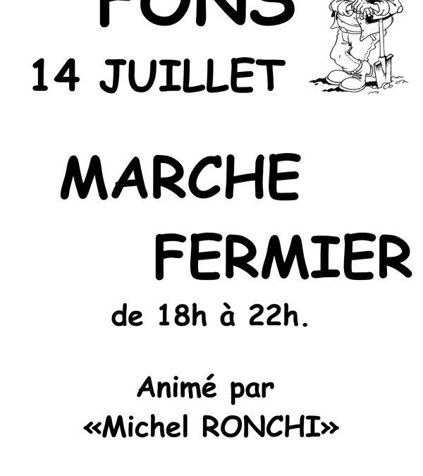 Marché fermier du 14 juillet 2020