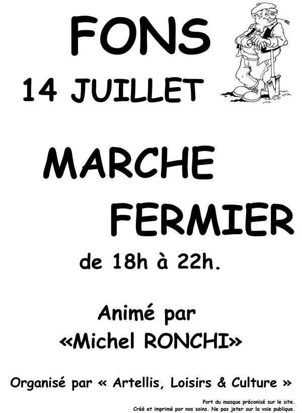 Marcher fermier 14 juillet 2020