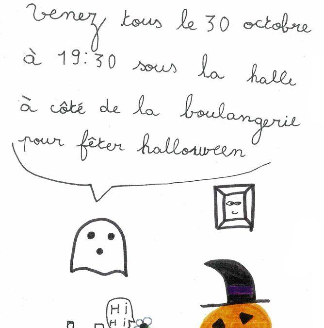 Soirée Halloween de l'école de Fons