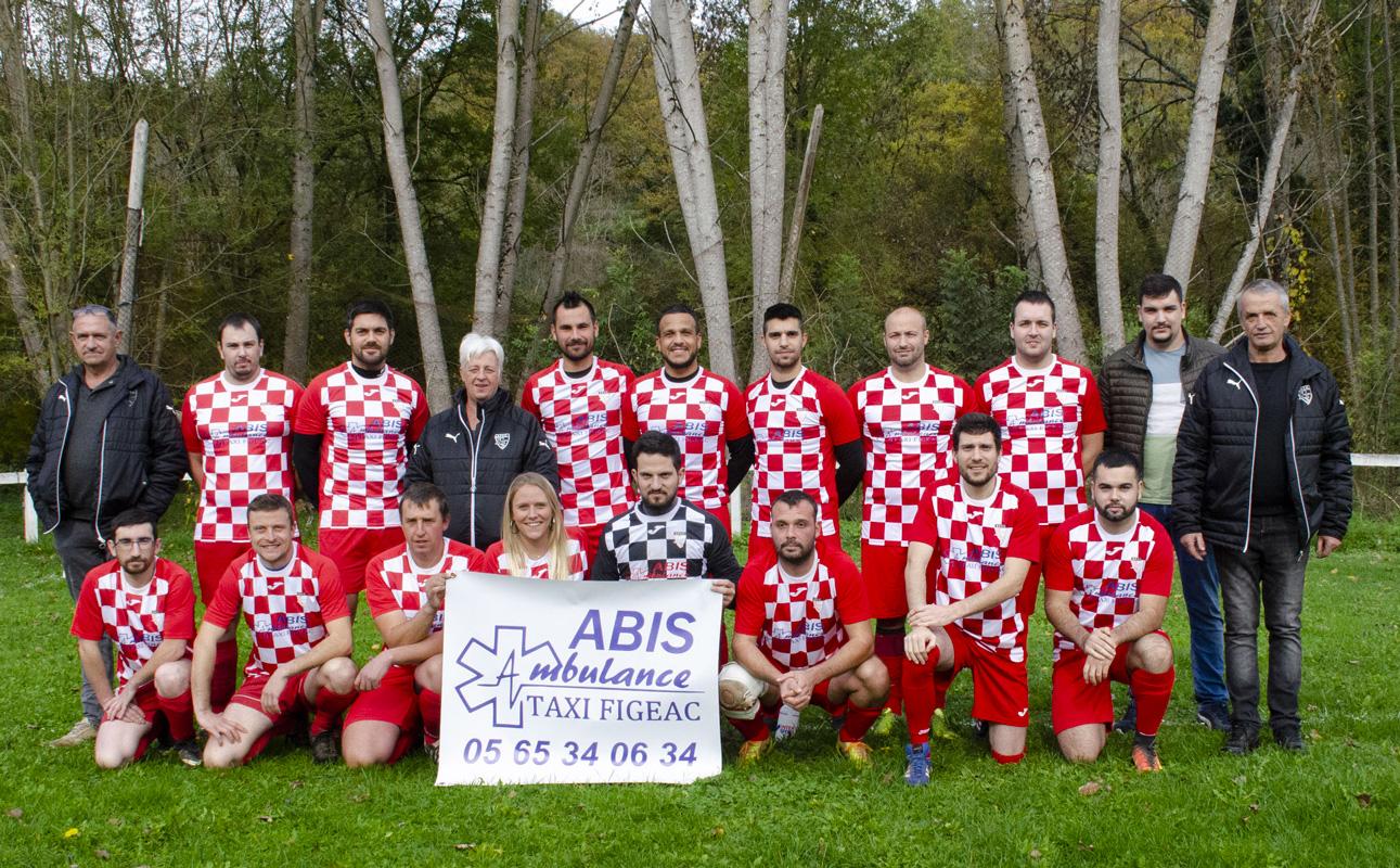 Équipe de foot de Fons - Maillots offert par Abis