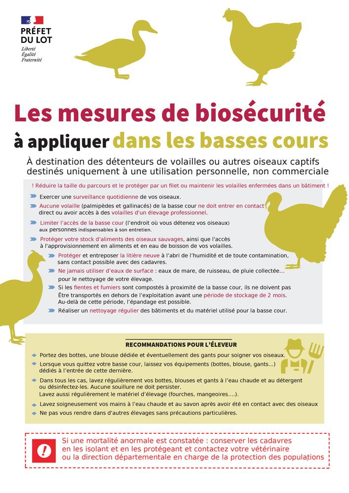 Mesures grippe aviaire