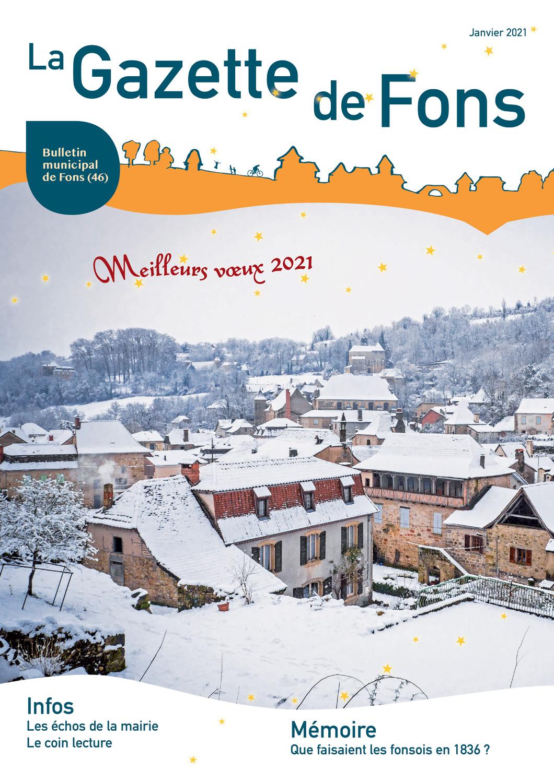 La gazette - Janvier 2021