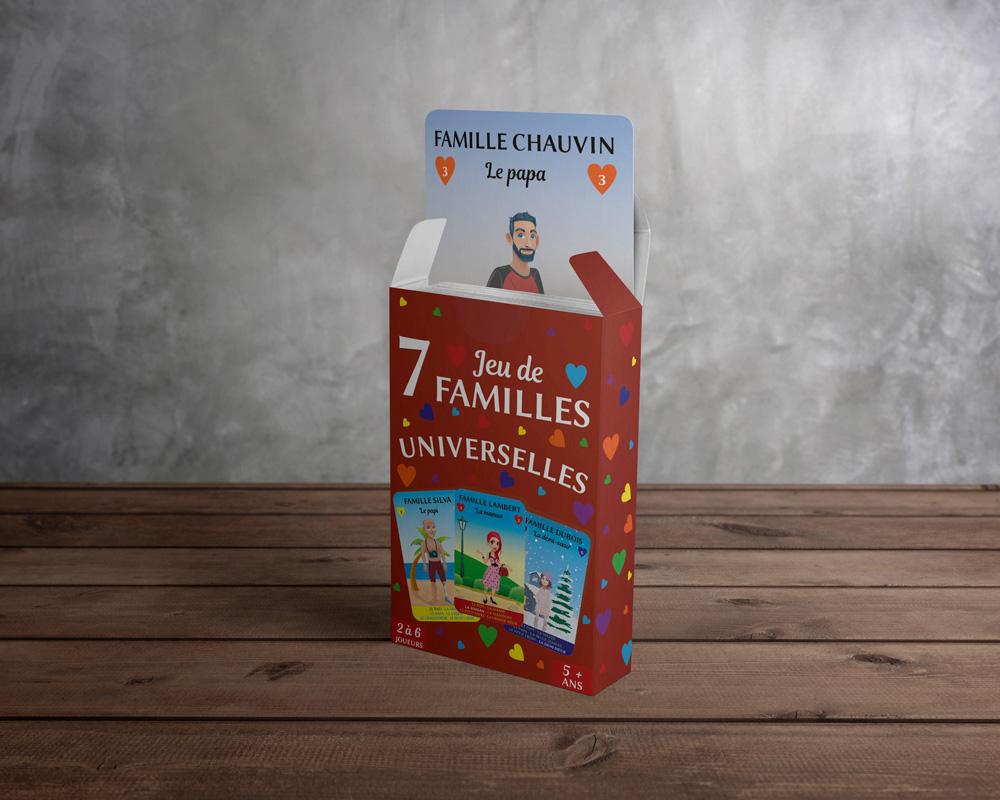 Packaging Jeu de 7 familles Universelles
