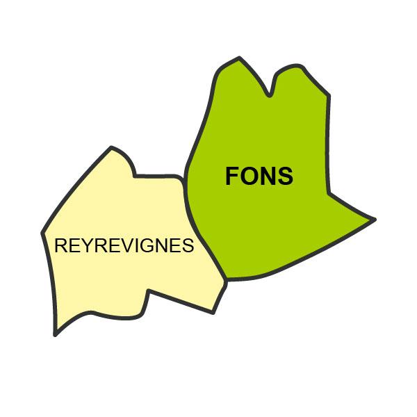 Carte de Fons et Reyrevignes
